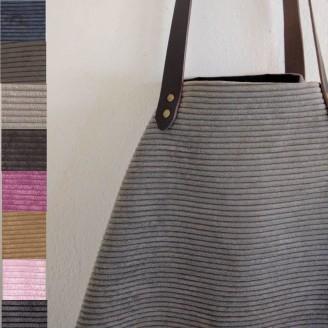 Bolso castaña de pana, configurador de bolso