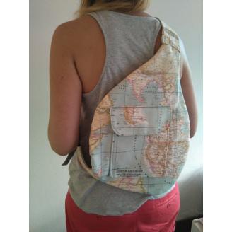Sporty bag mapa mundi