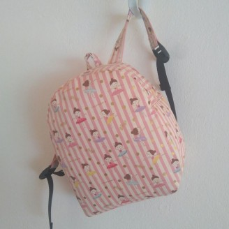 Mochila infantil ballerinas (tela Japonesa)