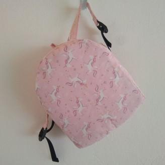 Mochila infantil de unicornios rosa