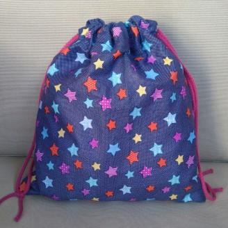 Bolsa ropa infantil estrellitas multicolor