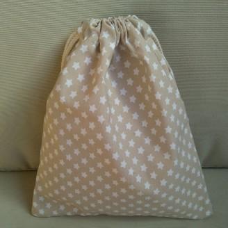 Bolsa ropa infantil estrellitas beige