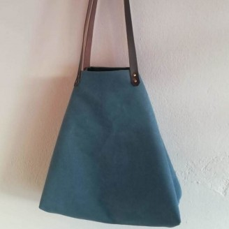 Bolso castaña ancienne azul