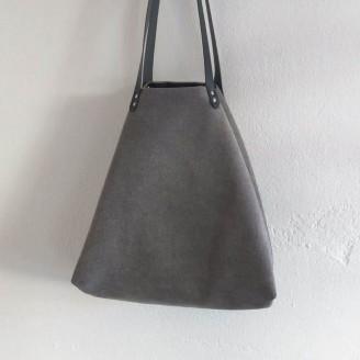 Bolso castaña cozy gris claro