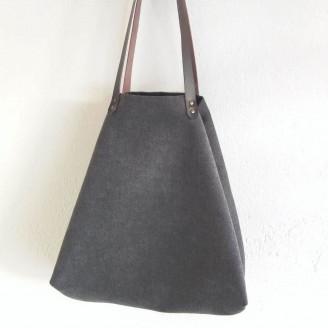 Bolso castaña cozy gris oscuro