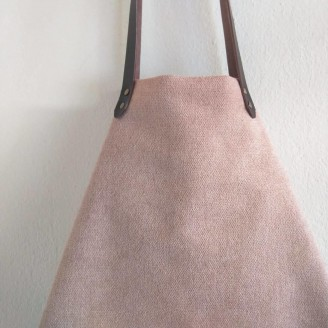 Bolso castaña cozy rosa