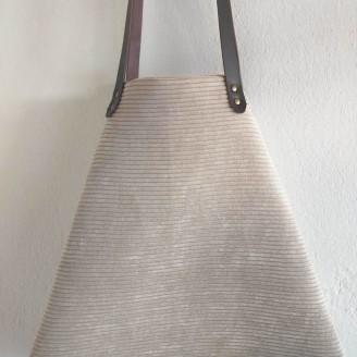 Bolso castaña de pana color cava