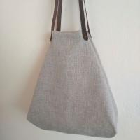 Bolso castaña seizal gris perla