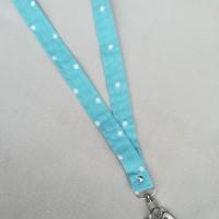 Porta llaves  de cuello de estrellitas azul