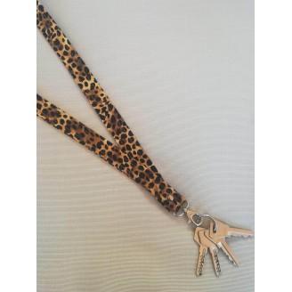 Porta llaves de cuello de leopardo