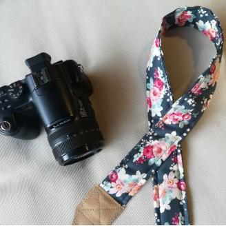 Correa para cámara Reflex floral