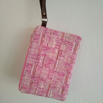 Clutch tela chanel rosa, exclusivo