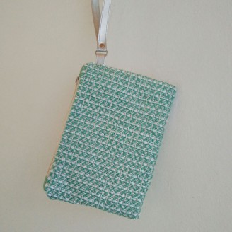 Clutch tela chanel mint
