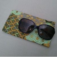 Funda de gafas mint en tela japonesa