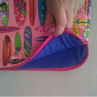 Funda para tablet o portátil surf rosa