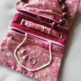 Joyero de viaje japonés rosal rosa