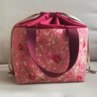Lunch bag de rosas rosa