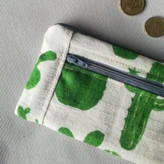 Monedero perfecto de cactus en tela japonesa