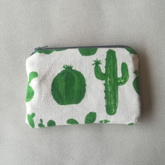 Monedero cactus verde