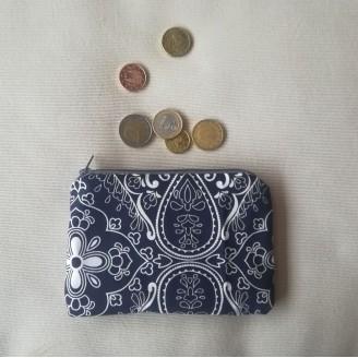 Monedero geo azul