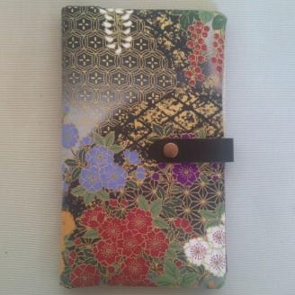 Portadocumentos en tela japonesa floral
