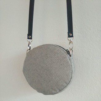 Bolso timbal gris
