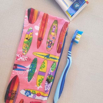 Neceser para cepillo de dientes surf rosa
